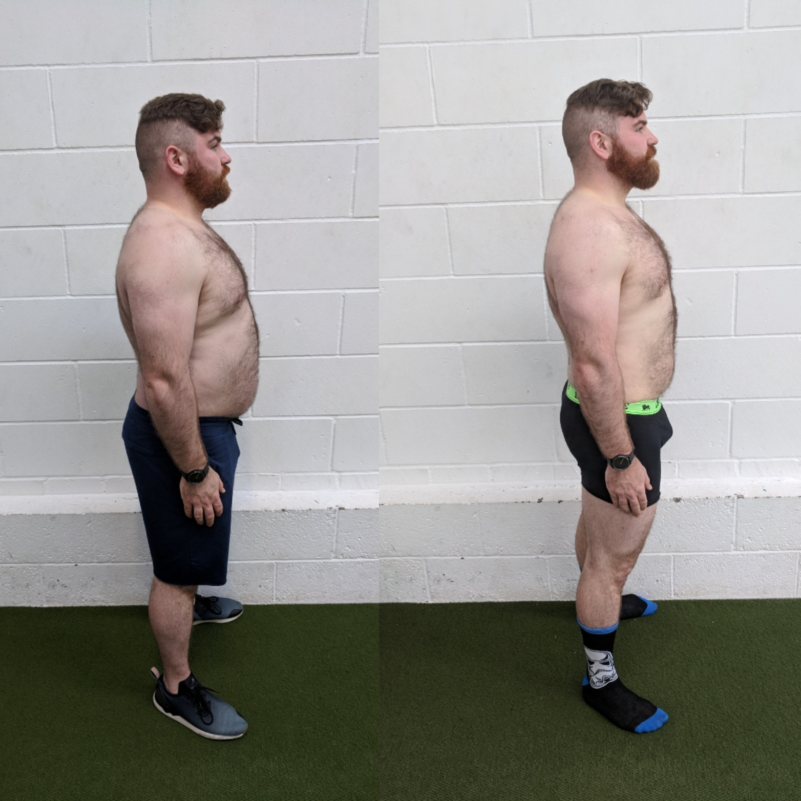 Ben before and after the programme
