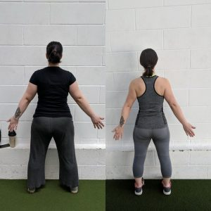 Janette before and after the programme